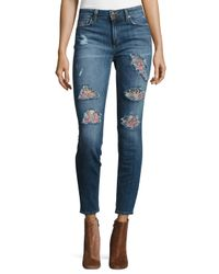 Joe's Jeans | Blue The Icon Mid-rise Skinny Ankle Jeans | Lyst