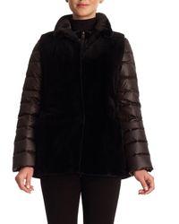 Gorski - Black Reversible Mink Fur Vest & Puffer Jacket - Lyst