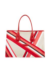 Longchamp - White Club Medium Open Tote Bag - Lyst