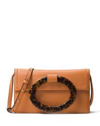 Michael Kors | Natural Baxter Ring Flap Shoulder Bag | Lyst