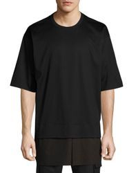 Juun.J - Black Faux-layered Tee for Men - Lyst