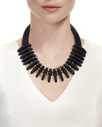 Lafayette 148 New York - Black Luna Statement Necklace - Lyst
