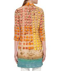 Akris Punto - Orange Riviera-print Zip Silk Tunic - Lyst
