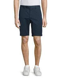 Michael Kors | Blue Slim-fit Stretch Chino Shorts for Men | Lyst