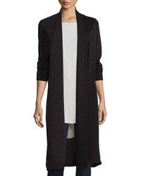 Eileen Fisher   Black Washable Wool Kimono Duster Cardigan   Lyst