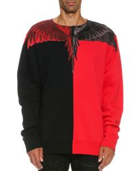 Marcelo Burlon | Red Paz Long-sleeve Colorblock Wing Sweatshirt for Men | Lyst