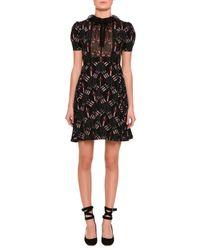 Valentino   Black Love Blade Short-sleeve Dress   Lyst