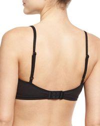 Skin | Black Delaney Organic Cotton Jersey Bralette | Lyst