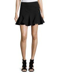 10 Crosby Derek Lam | Black Stretch Jersey Fit-and-flare Mini Skirt | Lyst