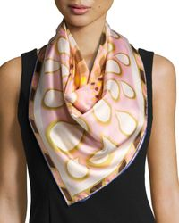 Givenchy | Pink Silk Twill Kaleidoscope Scarf | Lyst