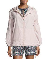 Moncler | Pink Jarosse Hooded Lightweight Jacket | Lyst