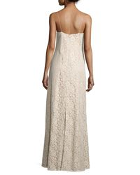 Donna Morgan | Multicolor Gia Sleeveless V-neck Lace Column Gown | Lyst