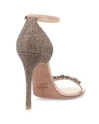 Valentino - Metallic Embellished Glitter Naked Sandal - Lyst