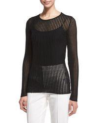 ESCADA | Black Needle-drop Sweater With Tank | Lyst