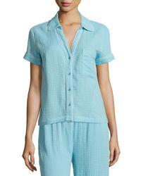 Skin | Blue Anita Button-up Nightshirt | Lyst