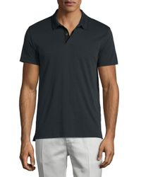 Theory - Black Sandhurst Tipped Pique Polo Shirt for Men - Lyst
