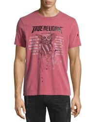 True Religion | Red 4th Skull & Logo-graphic Short-sleeve Tee for Men | Lyst