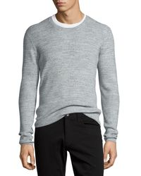 Vince | Gray Thermal Long-sleeve Crewneck T-shirt for Men | Lyst