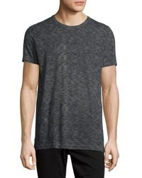 Vince | Black Vintage Melange Slub Crewneck T-shirt for Men | Lyst