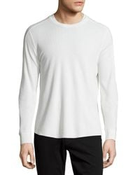 Vince | White Long-sleeve Waffle-knit Sweater for Men | Lyst