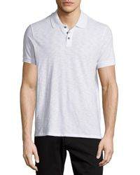 Vince | Blue Short-sleeve Slub Knit Polo Shirt for Men | Lyst