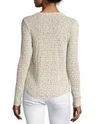 Generation Love - Natural Karen Slub Lace-up Sweater - Lyst