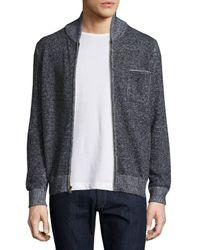 Billy Reid | Blue Donegal-knit Track Jacket for Men | Lyst