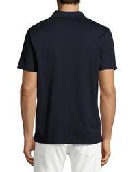 Vince - Blue Quarter-zip Polo Shirt for Men - Lyst