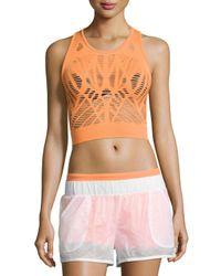 Alo Yoga | Orange Vixen Cutout Fitted Crop Tank | Lyst