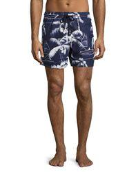 Vilebrequin | Blue Moorea Palm Tree Swim Trunks for Men | Lyst