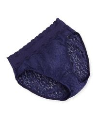 Wacoal   Blue Halo Lace High-cut Briefs   Lyst