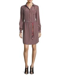 Trina Turk - Multicolor Fairfax Foulard Long-sleeve Printed Shirtdress - Lyst