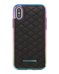 Rebecca Minkoff - Black Quilted Love Oil Slick Phone Case For Iphone® X - Lyst