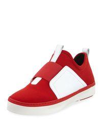 Stuart Weitzman - Red Wayfare Neoprene Two-tone Sneakers - Lyst