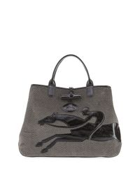 Longchamp   Brown Roseau Double-jeu Large Tote Bag   Lyst