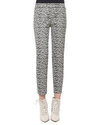 Akris - Black Frances Printed Ankle Pants - Lyst