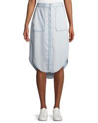 DL1961 - Blue Varet Denim Button-front Skirt - Lyst