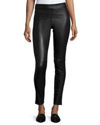 Theory - Black Adbelle L2 Bristol Leather Leggings - Lyst