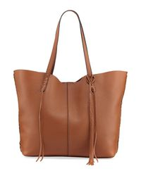 Rebecca Minkoff - Brown Medium Unlined Whipstitch Tote Bag - Lyst