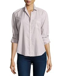 Frank & Eileen - Pink Eileen Button-front Shirt - Lyst