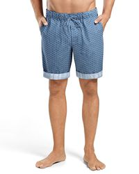 Hanro - Blue Harvey Printed Woven Shorts for Men - Lyst