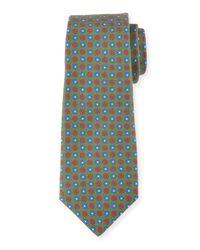 Kiton - Gray Neat Circle-medallion Printed Silk Tie for Men - Lyst