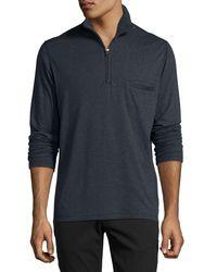Billy Reid - Blue Jordan Half-zip Pullover for Men - Lyst