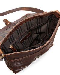 Frye - Brown Logan Small Leather Messenger Bag for Men - Lyst