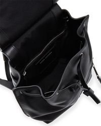 Marc Jacobs - Black Zip Leather Flap Backpack - Lyst