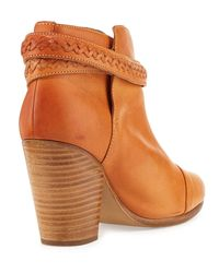 Rag & Bone - Natural Harrow Belted Leather Ankle Boot - Lyst