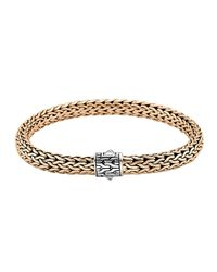 John Hardy - Metallic Classic Bronze Men's Woven Chain Bracelet for Men - Lyst