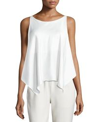 Elizabeth and James - White Shelley Silk Handkerchief Top - Lyst
