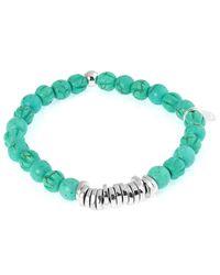 Tateossian - Green Men's Round Turquoise Beaded Bracelet for Men - Lyst
