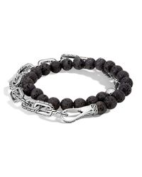 John Hardy - Black Men's Batu Double-wrap Bead Bracelet for Men - Lyst